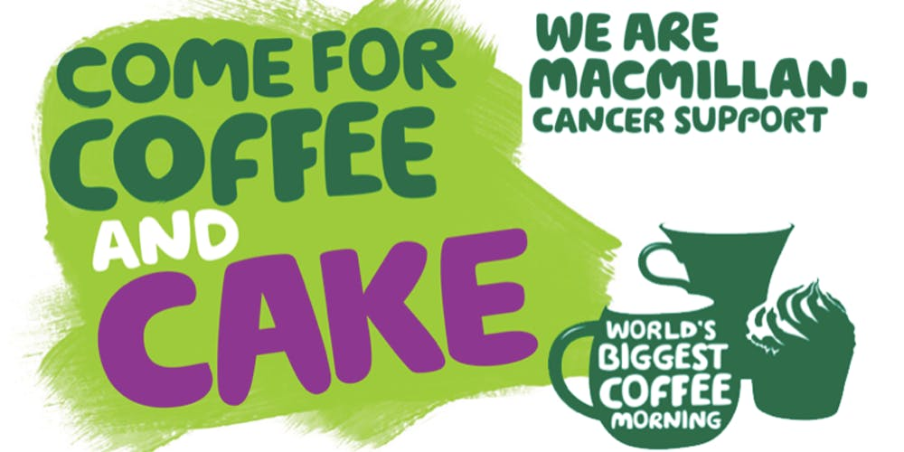 Macmillan Coffee Morning – 26th September